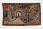 "Heather Goodchild, Journey Landscape, 2009. Wool and burlap, 65"" x 37""."