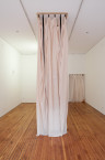Aaron Flint Jamison, Big Buddy, 2012. Georgette, zippers, display case, water noodles